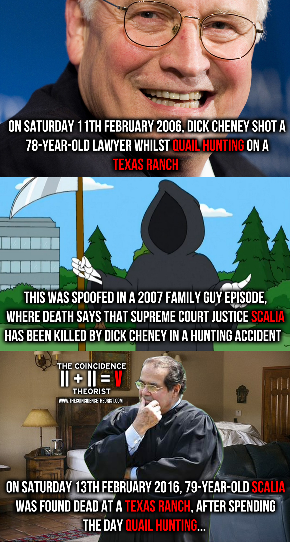 Dick cheney and justice scalia